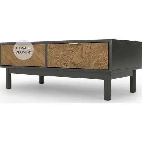Belgrave Storage Coffee Table, Dark Stained Oak
