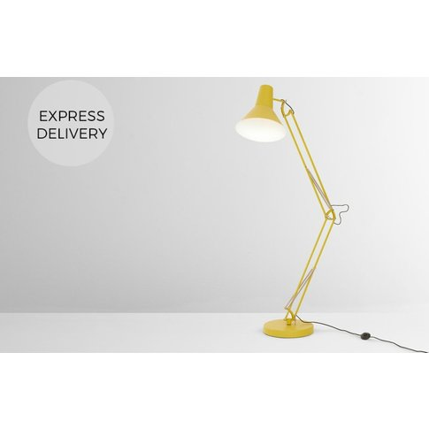Bronx Giant Floor Lamp, Yellow
