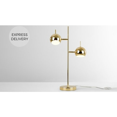 Austin Table Lamp, Brass