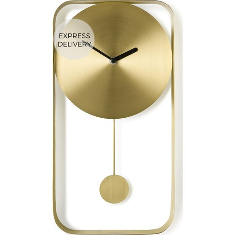Bard Pendulum Wall Clock, Brushed Brass