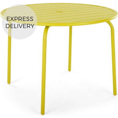 MADE Essentials Tice 4 Seater Dining Table, Chartreuse