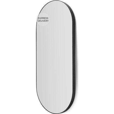 Arles Rounded Rectangular Wall Mirror 43 X 96 Cm, Ma...