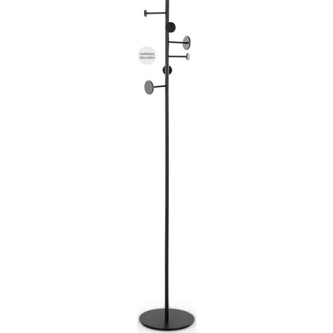 Bran Metal Coat Stand, Black
