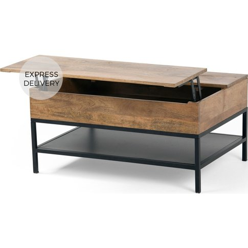 Lomond Lift Top Coffee Table With Storage, Mango Woo...
