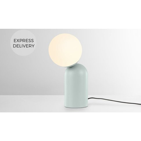 Vetro Table Lamp, Aqua Green And Opal Glass