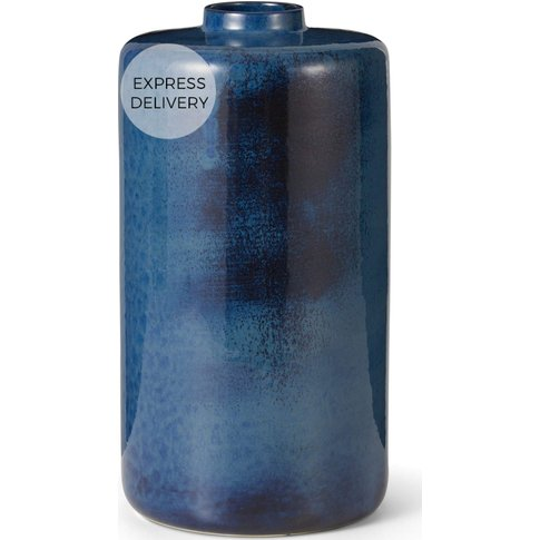 Haalo Large Ceramic Vase, Blue