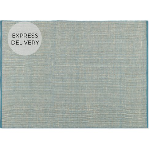 Rifky Jute & Cotton Stripe Rug Medium 140x200cm, Teal