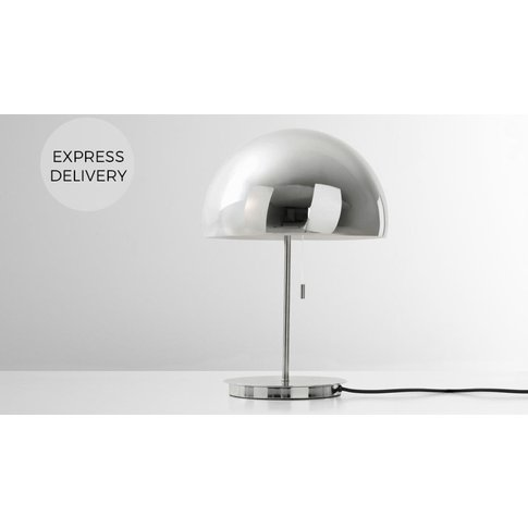 Collet Table Lamp, Chrome