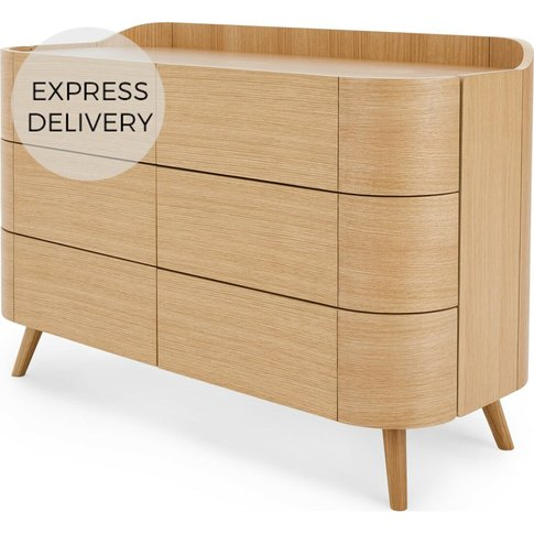 Ada Wide Chest Of Drawers, Oak