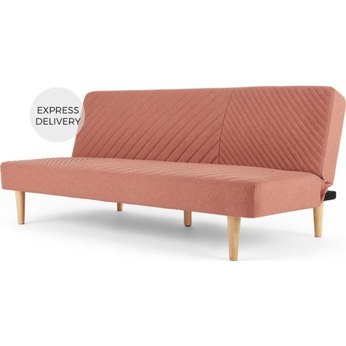 Ryson Click Clack Sofa Bed, Dust Pink