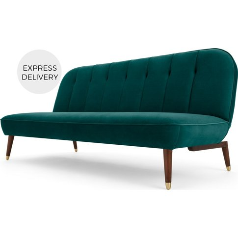 Margot Click Clack Sofa Bed, Seafoam Blue Velvet
