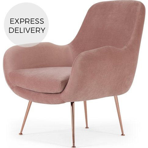 Moby Accent Armchair, Vintage Pink Velvet