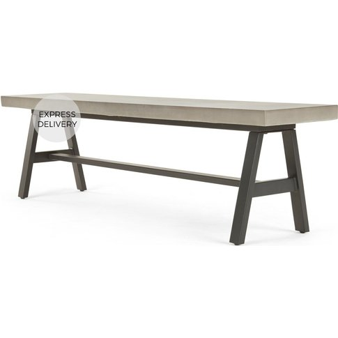 Edson Large Bench, Cement And Metal