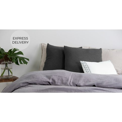 Grove 50 X 50cm 100% Cotton Cushion, Charcoal