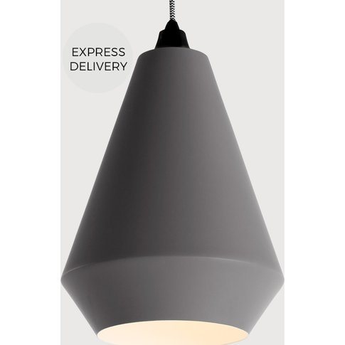 Kirkby Conical Lamp Shade, Cool Grey