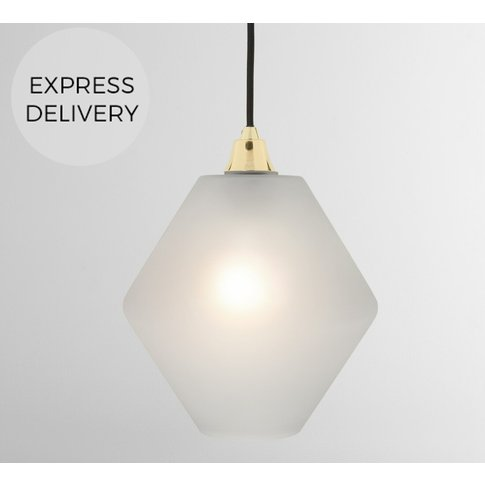 Gloria Pendant Lamp Shade, Grey Frosted Glass