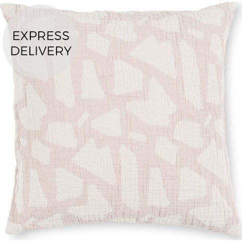Olena 100% Cotton Reversible Jacquard Cushion 50x50,...