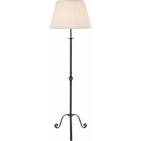 Black Floor Lamp - 1 X 100w E27 By Happy Homewares
