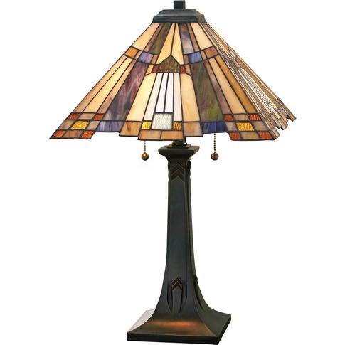 Valiant Bronze Table Lamp - 2 X 60w E27 By Happy Homewares