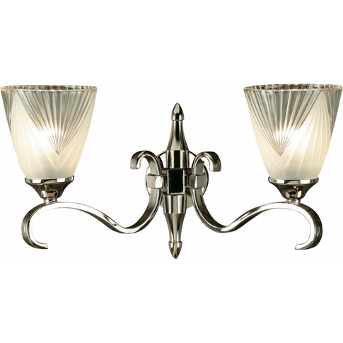 Wall Light - Polished Nickel Plate & Clear Glass Wit...
