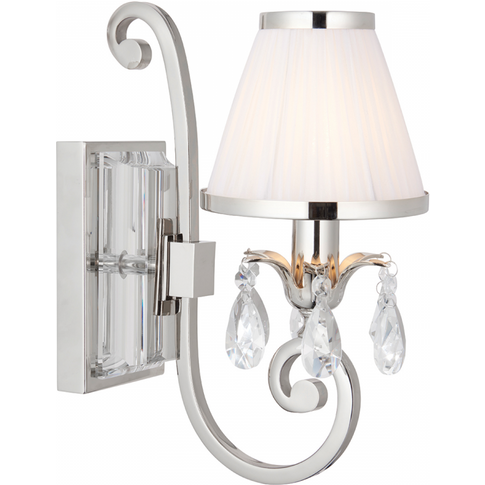 Wall Light - Polished Nickel Plate & Lead Crystal Be...