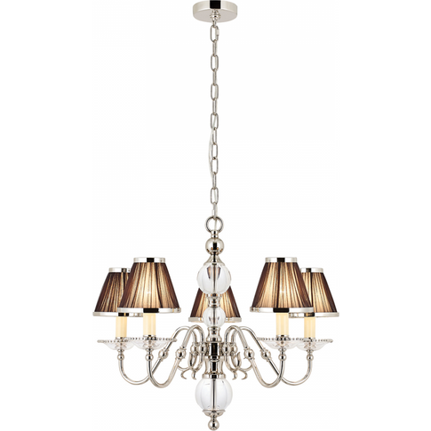 Pendant Light - Polished Nickel Plate & Clear Crysta...