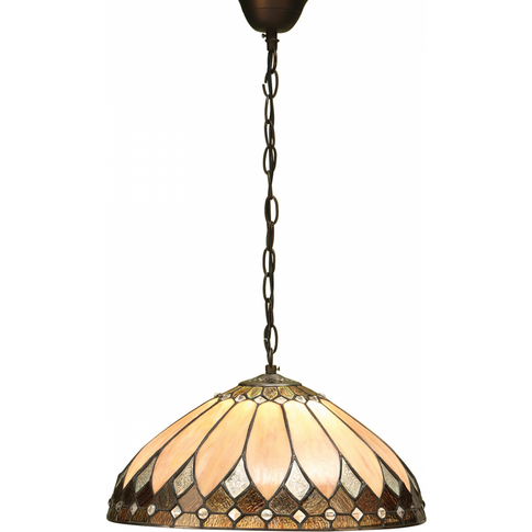 Pendant Light - Tiffany Style Glass & Dark Bronze Pa...