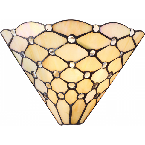 Wall Light - Tiffany Style Glass & Matt Black By Hap...