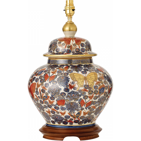 Table Light - Hand Painted Multi-Coloured Design Wit...