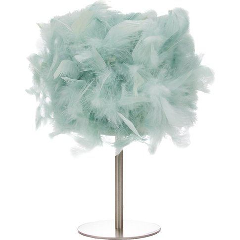 Modern And Real Duck Egg Feather Table Lamp With Sat...