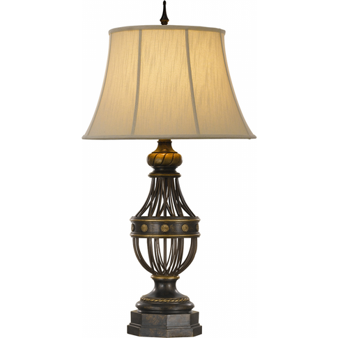 Antique Brown 1lt Table Lamp - 1 X 60w E27 By Happy ...