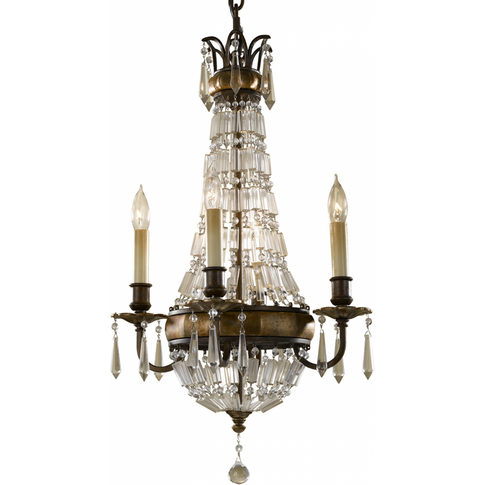Oxidized Bronze/British Bronze 4lt Chandelier - 4 X ...