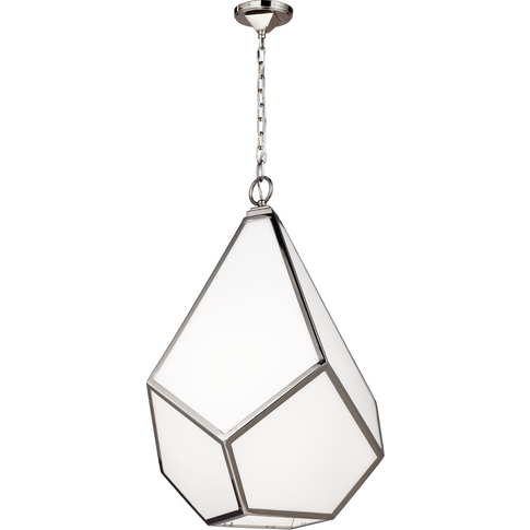 Polished Nickel Large Pendant Chandelier - 4 X 75w E...