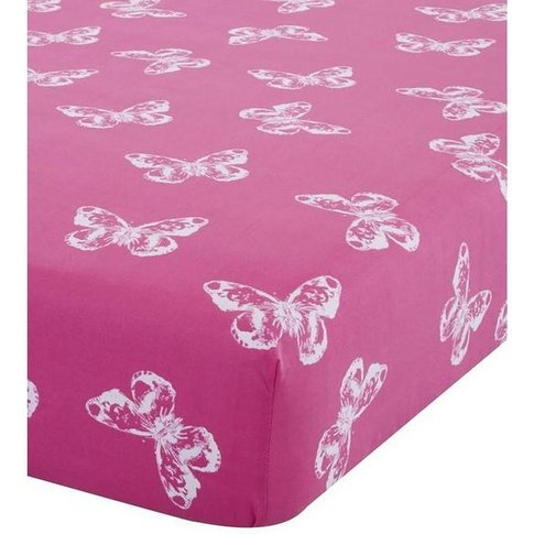 Butterfly Pink Fitted Sheet