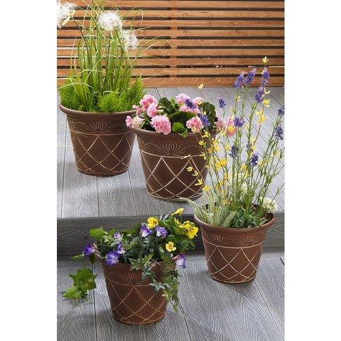 Set Of 4 Athena Planters
