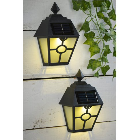 Set Of 2 Solar Wall Lights