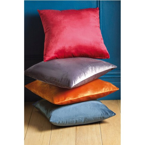 Pair Of Smooth Velvet Filled Cushions