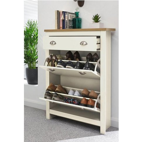 Lancaster 2 Drawer Shoe Cabinet