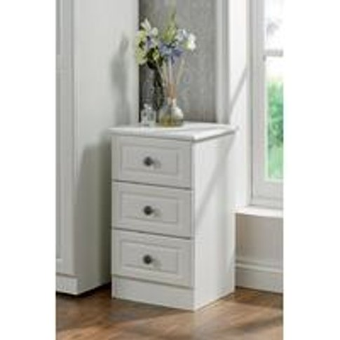Loire 3 Drawer Bedside Table