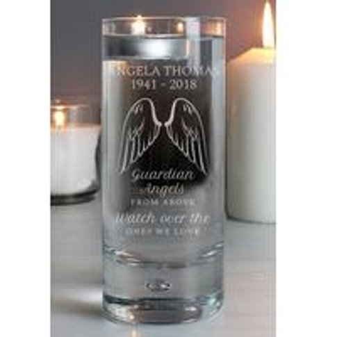Personalised Guardian Angel Wings Floating Candle Ho...