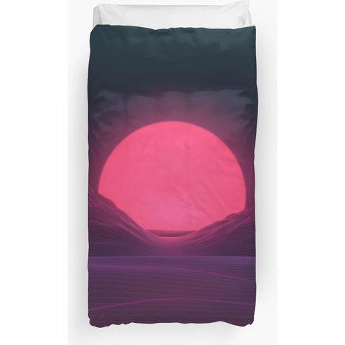 Neon Sunset Duvet Cover