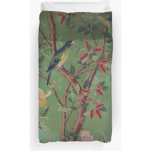 Green Dream Chinoiserie Duvet Cover