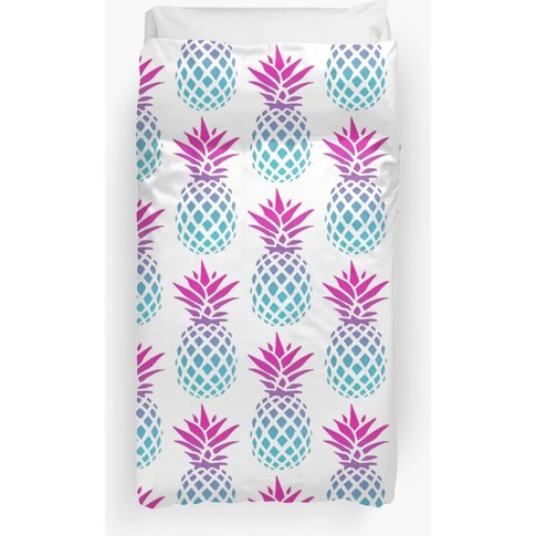 Pineapple Ombre Purple Duvet Cover