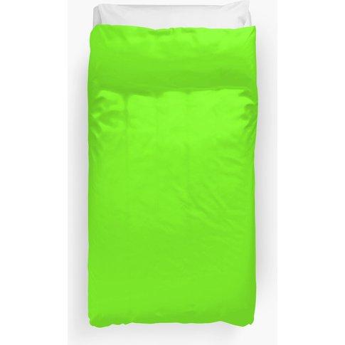Super Bright Fluorescent Green Neon Duvet Cover
