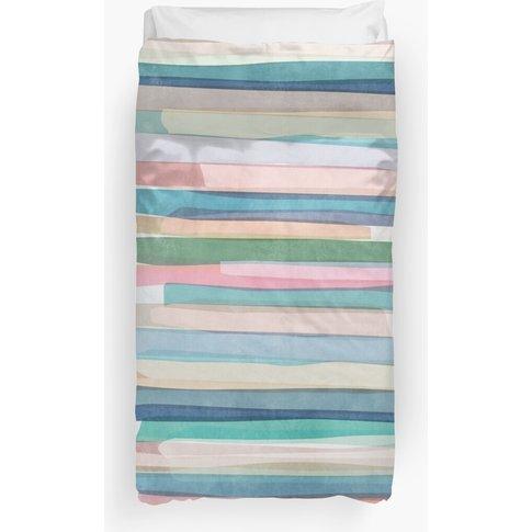 Pastel Stripes 1 Duvet Cover