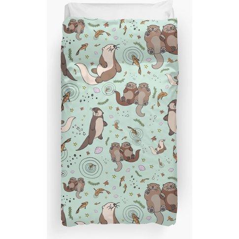Sea Otters Duvet Cover