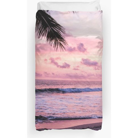 Palm Tree Beach Duvet Cover