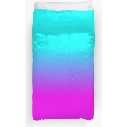 Hot Pink and Neon Aqua Blue Ombre Shade Color Fade D...