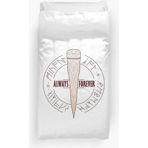 Always & Forever - White Oak Stake Duvet Cover