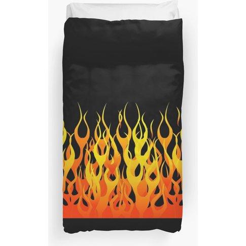 Racing Flames Duvet Cover